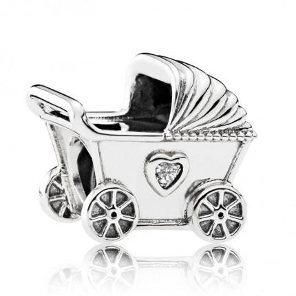 PANDORA Silberelement Kinderwagen 792102CZ