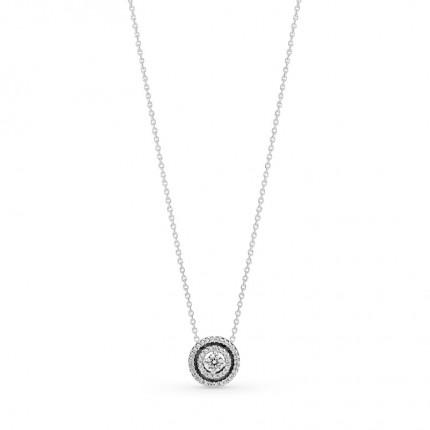 PANDORA Silberkette Sparkling Double Halo 399414C01-45