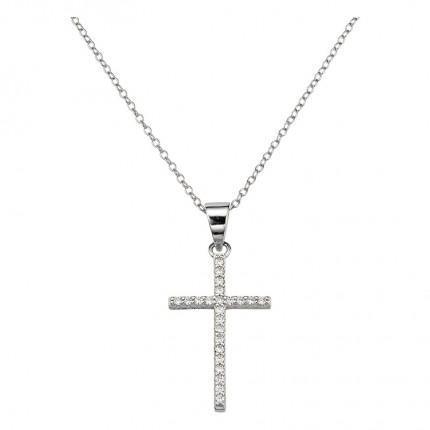 CEM Collier Silber Kreuz BCO906505