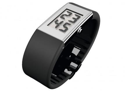 ROSENDAHL Armbanduhr Digital Watch II Small Edelstahl Polyurethan Schwarz 43124