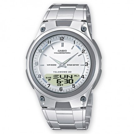 Casio Armbanduhr Collection Analog Digital Edelstahl AW-80D-7AVES