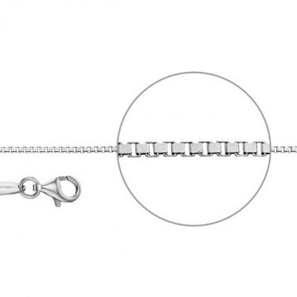 DER KETTENMACHER Sterlingsilber Rhodiniert Venezianerkette Diamantiert 1,2mm V2-S