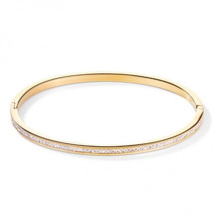 COEUR DE LION Armreif Edelstahl Gold Kristalle Pavé 0129/37-1816