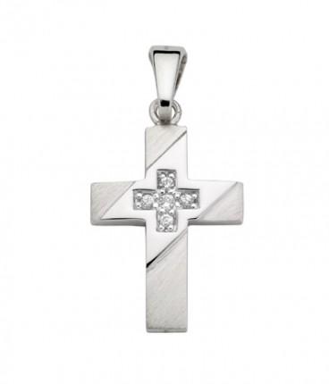 CEM Anhänger Kreuz Zirkonia Silber BAH 904702