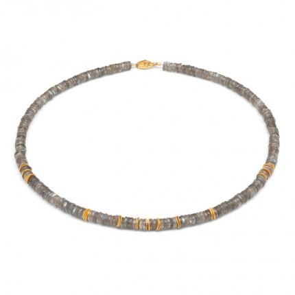 BERND WOLF Collier SHANA Silber Goldplattierung Labradorit 84489616-43