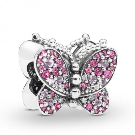 PANDORA Silberelement Dazzling Pink Butterfly 797882NCCMX