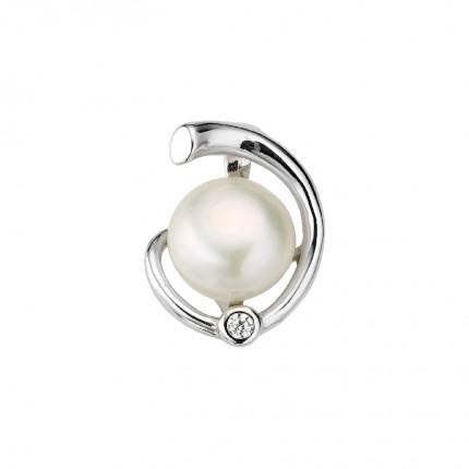 CEM Anhänger Perle und Zirkonia Silber BAH905137