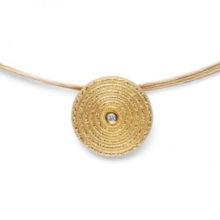 Bastian Inverun Anhänger 925/- Silber Vergoldet mit Diamant 39520