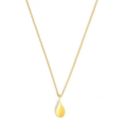 BERND WOLF Collier AQUANICA Silber Goldplattiert Zirkonia 87304156-45-50