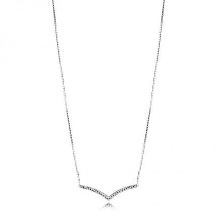 PANDORA Silberkette Shimmering Wish 397802CZ-45