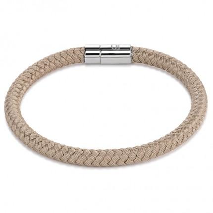 COEUR DE LION Armband Textil Geflochten Beige 0115/31-1000
