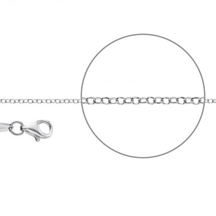 DER KETTENMACHER Sterlingsilber Rhodiniert Erbskette Diamantiert 2,0mm E1-S