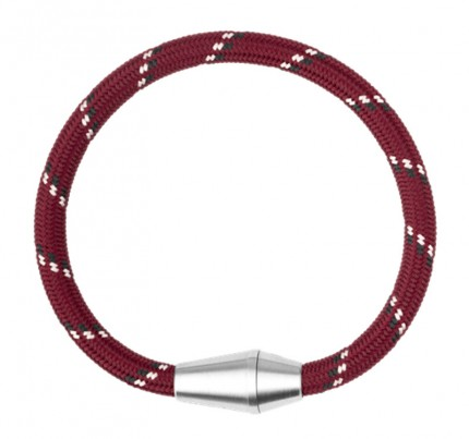 Paul Hewitt CONIC Armband Edelstahl Nylon Rot Schwarz Weiß PH002763