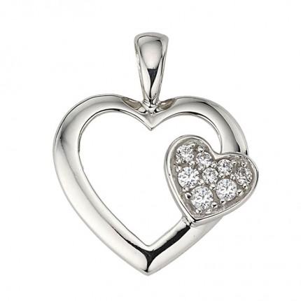 CEM Anhänger Herz Silber Zirkonia BAH904885
