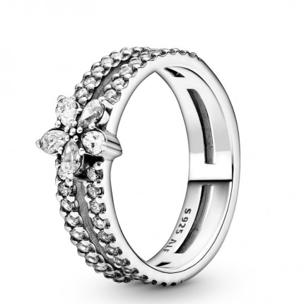 PANDORA Silber Ring Funkelnde Schneeflocke 199236C01