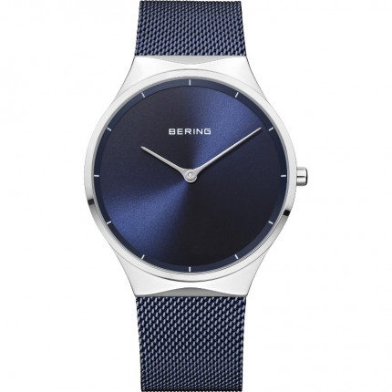 Bering Armbanduhr Unisex Classic Edelstahl Blau 12138-307