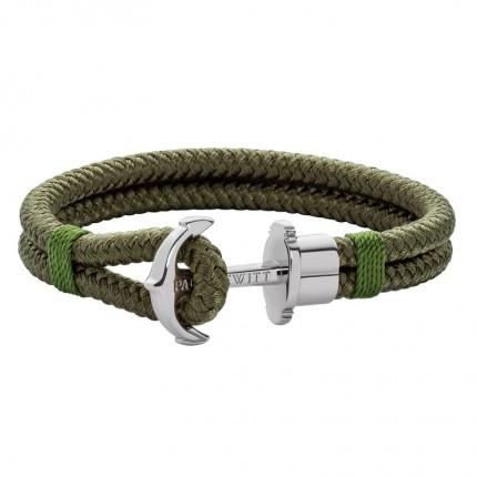 Paul Hewitt PHREPS Armband Nylon Edelstahl Olive PH002291