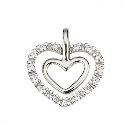 CEM Anhänger Herz Silber Zirkonia BAH904877