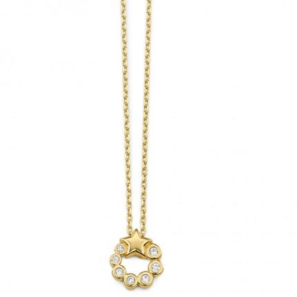 CEM Collier 333/- Gold Zirkonia Stern G3-00304C