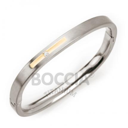 Boccia Armspange Titan Bicolor mit Brillanten 0304-01