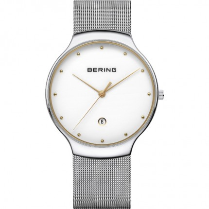 Bering Armbanduhr Unisex Classic Edelstahl Bicolor 13338-001