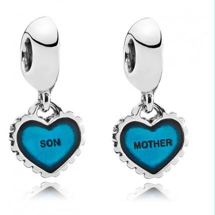 """PANDORA Silberelement """"Mutter und Sohn"""" 2-teilig 791152 EN08"""