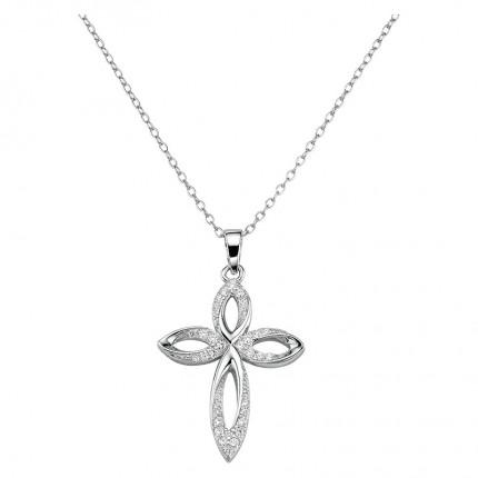 CEM Collier Silber Kreuz BCO906504