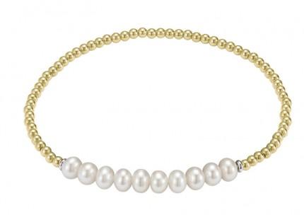 ADRIANA Perlenarmband Silber Vergoldet Süßwasserperlen A128