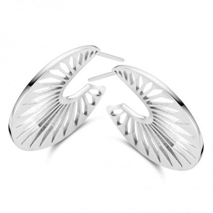 SPIRIT ICONS Creolen Peacock Silber 41141