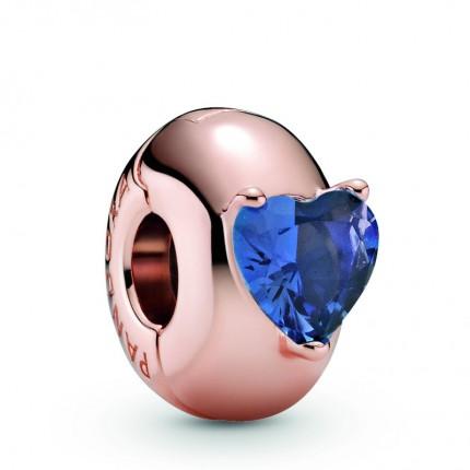 PANDORA ROSE Element Clip Blue Heart Solitaire 789203C02