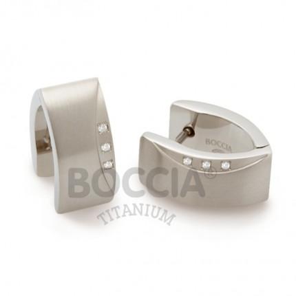 Boccia Ohrschmuck Creole Titan 05002-02