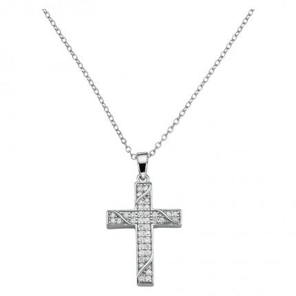 CEM Collier Silber Kreuz BCO906507