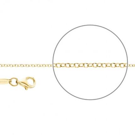 DER KETTENMACHER Sterlingsilber Gold Plated Erbskette Diamantiert 2,0mm E1-G