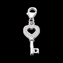 CEM Charms Anhänger Schlüssel Zirkonia Silber CMM154