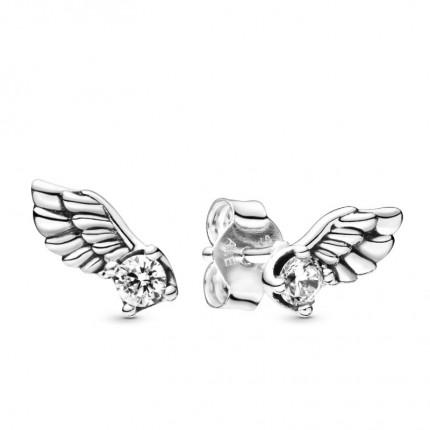 PANDORA Ohrschmuck Silber Sparkling Angel Wing 298501C01