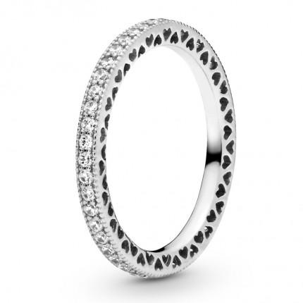 PANDORA Silber Ring Hearts of PANDORA 190963CZ