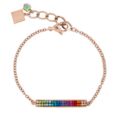 COEUR DE LION Armband Roségold Kristalle Pavé Multicolor 0214/30-1500