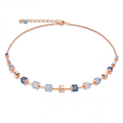 COEUR DE LION Collier MonochromeBLUE Roségold Blau 4996/10-0700
