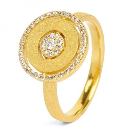 BERND WOLF Ring Silber Goldplattiert CAROUSEL Zirkonia 52208156