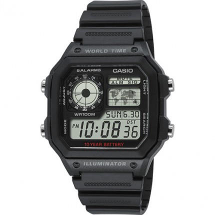 Casio Armbanduhr Collection Schwarz Eckig AE-1200WH-1AVEF