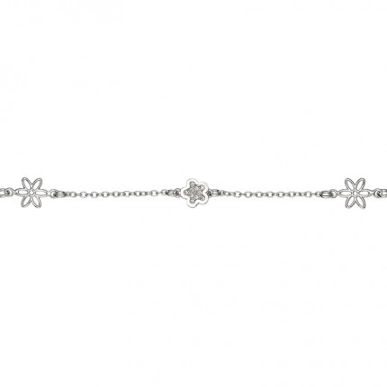 CEM Armband Silber Blüten BAS96309/19