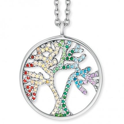Engelsrufer Kette Silber Lebensbaum Multicolor ERN-TREE-ZIM