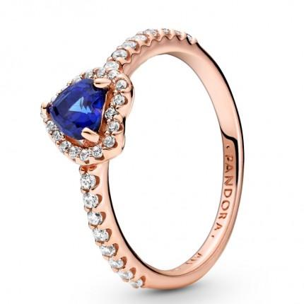 PANDORA ROSE Ring Elevated Heart Blue 188421C01