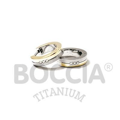 Boccia Ohrschmuck Creole Titan Gold 0510-09