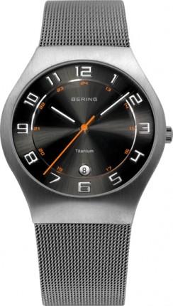 Bering Herrenuhr Classic Grau 11937-007