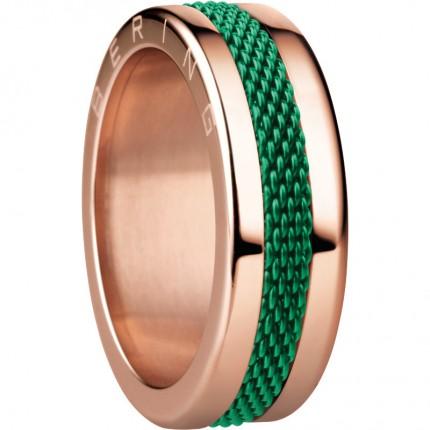 Bering Ringkombination Edelstahl Roségold Mesh Grün SanMarino-X