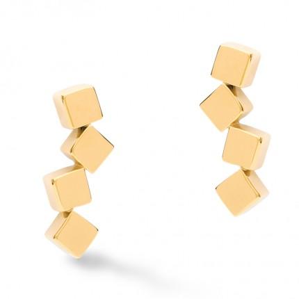 COEUR DE LION Ohrschmuck Gold Dancing Geo Cube 5071/21-1600