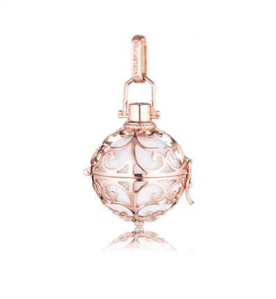 Engelsrufer Silber Rosé Plated mit Klangkugel Weiß ER-01-SR