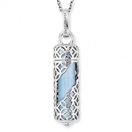 Engelsrufer Kette Silber Powerful Stone Blauer Achat ERN-HEAL-BA-M