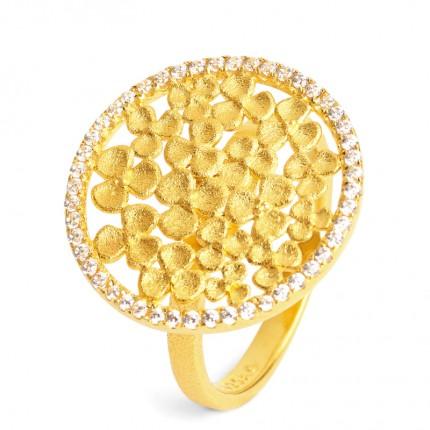 BERND WOLF Ring Silber Goldplattiert LEICASA Zirkonia 52262156